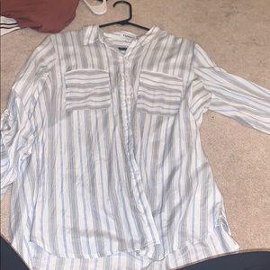 Express button up light blue work shirt